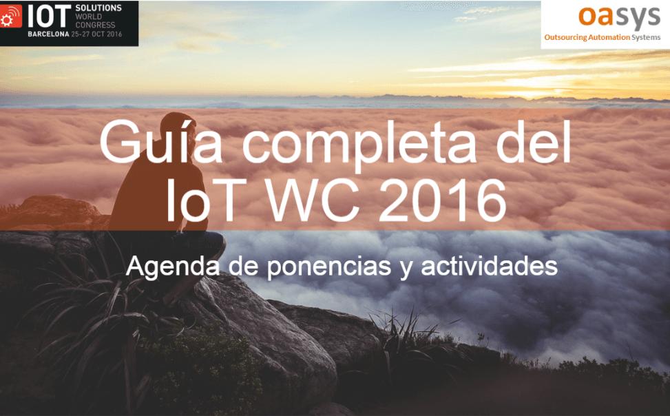 Guía, agenda y programaciones del IoT World Congress 2016